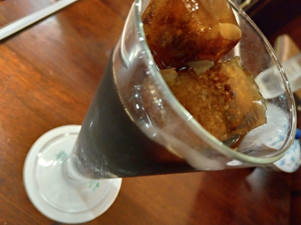椿屋珈琲店のアイスコーヒー